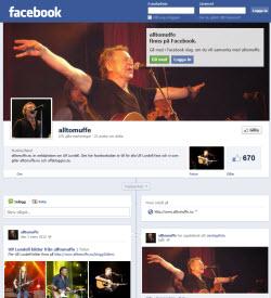 Nytt utseende med tidslinje på alltomuffes facebookkanal
