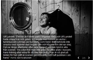 Ulf Lundell i Folkets Park i Vrigstad 1982