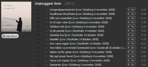 Unplugged Solo på Spotify