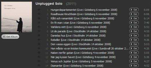 Unplugged Solo på Spotify
