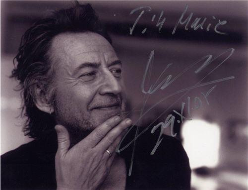 Ulf Lundell autograf på ett foto