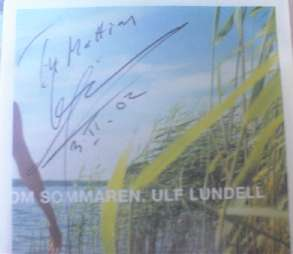 Autograf till Mattias Petersson på singeln Om sommaren