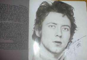 Autograf från Mattias Petersson på skivboxen Livslinjen från 1991