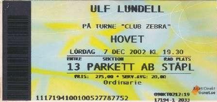 Ulf Lundell på Hovet (Johanneshovs Isstadion) Stockholm 7 december 2002