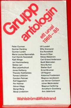 Gruppantologin - ett urval 1965-85