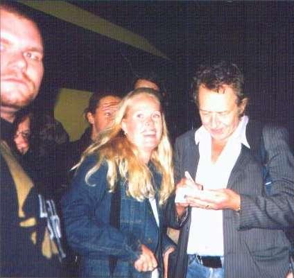 Autograf till Mattias Persson på konserten i Borgholm 2002