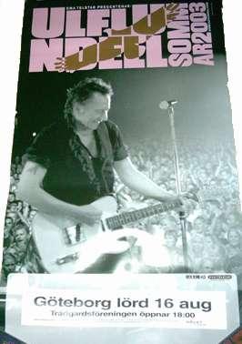 Turnéposter sommaren 2003, Göteborg den 16 augusti