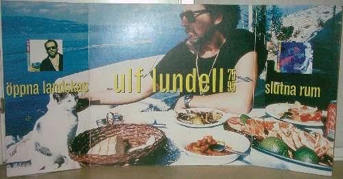 Reklamaffisch för skivorna Öppna Landskap och Slutna Rum