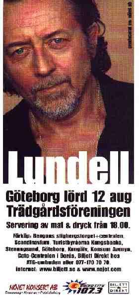 Reklamblad 12 augusti Trädgårdsföreningen Göteborg 2000