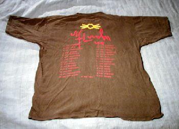T-tröja svart bak Sommarturnén 1994
