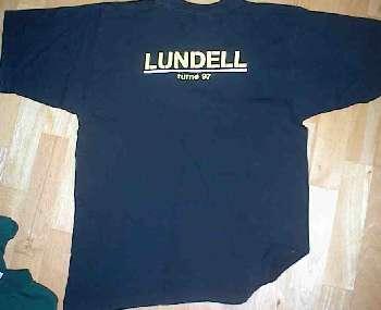 T-tröja svart bak sommarturnén 1997