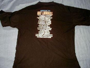 T-tröja svart bak sommarturnén 2000