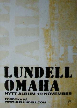 Reklammaterial för skivan Omaha - promotionaffisch, variant 2