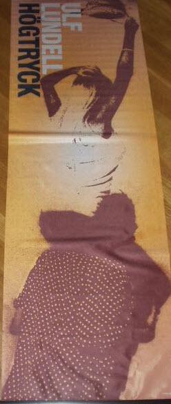 Reklammaterial för skivan Högtryck - tygvepa