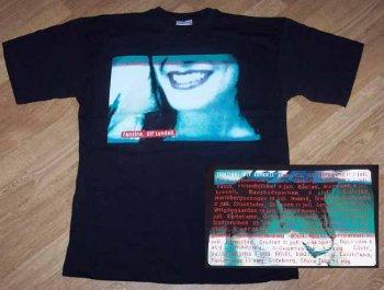 T-tröja svart fram sommarturnén 1999