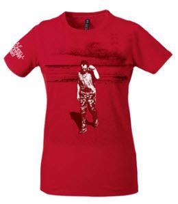 T-tröja från Ulf Lundells sommarturné 2009, röd, dam