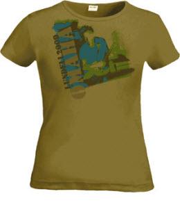 T-tröja från Ulf Lundells vårturné 2009, grön, dam