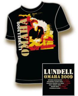T-tröja från Ulf Lundells vårturné 2009, svart, herr. Motiv: turnéposter